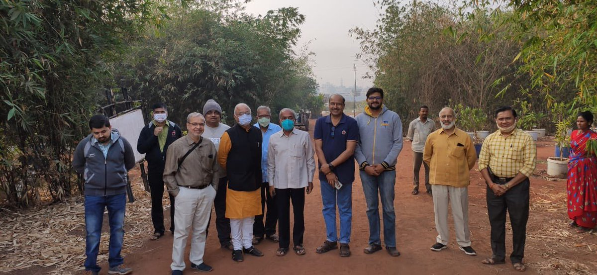 On a day's visit to Sangli-Kurundwad-Kolhapur, visited Oxygen Park conceived by Kishore Patwardhan and his friends! In 5 acres they have a decent Bamboo Cultivation which was possible, thanks to amendments in relevant acts during the first term of PM @narendramodi led Govt! https://t.co/88mJ76pcZ1