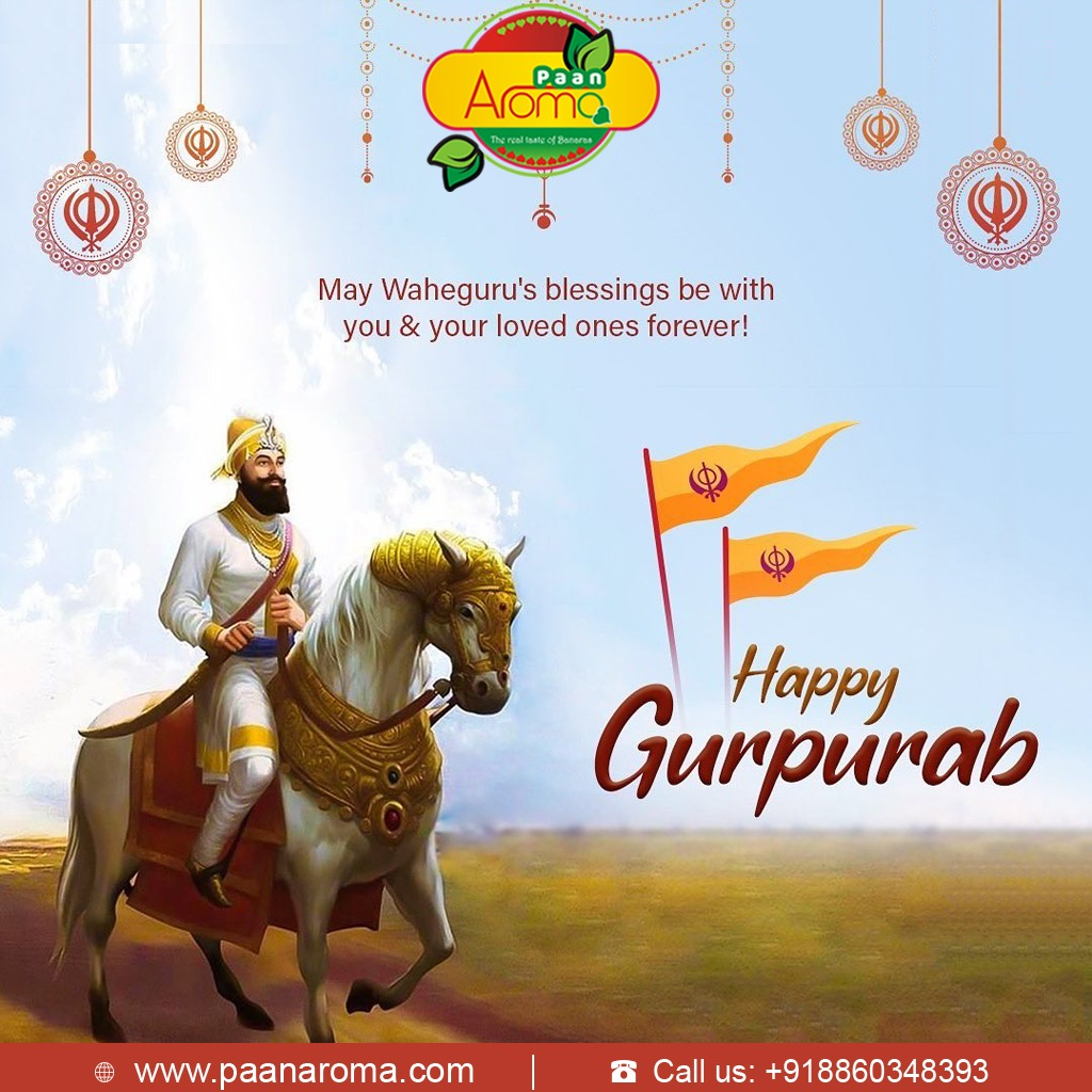 Wishing you all a very Happy Guru Nanak Jayanti! ~Via Paan Aroma Team: https://t.co/srCS6QOVrY #PaanAroma #Paan #GuruNanakJayanti #GuruNanak #Gurugobindsinghji #GuruNanakSahib #ParkashPurab https://t.co/v1Z9yoWVbD