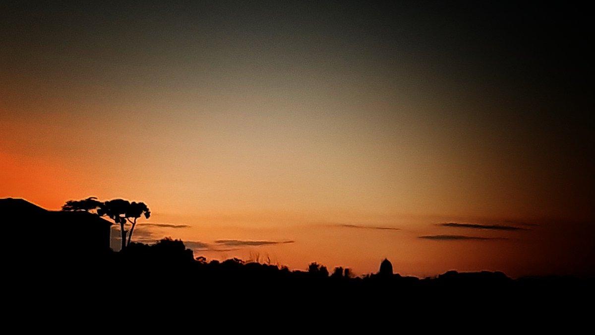 Foto dal mio quartiere - Verso Capodimonte -  #carlodemarco #napoli #naples #italia #campania #capodimonte #italy #sunset #tramonto #sky #minimal #stilizzata #alberi #trees #landscape #panorama #orange #arancione #nuvole #clouds #landscapephotography #luigiventrigliaphotography