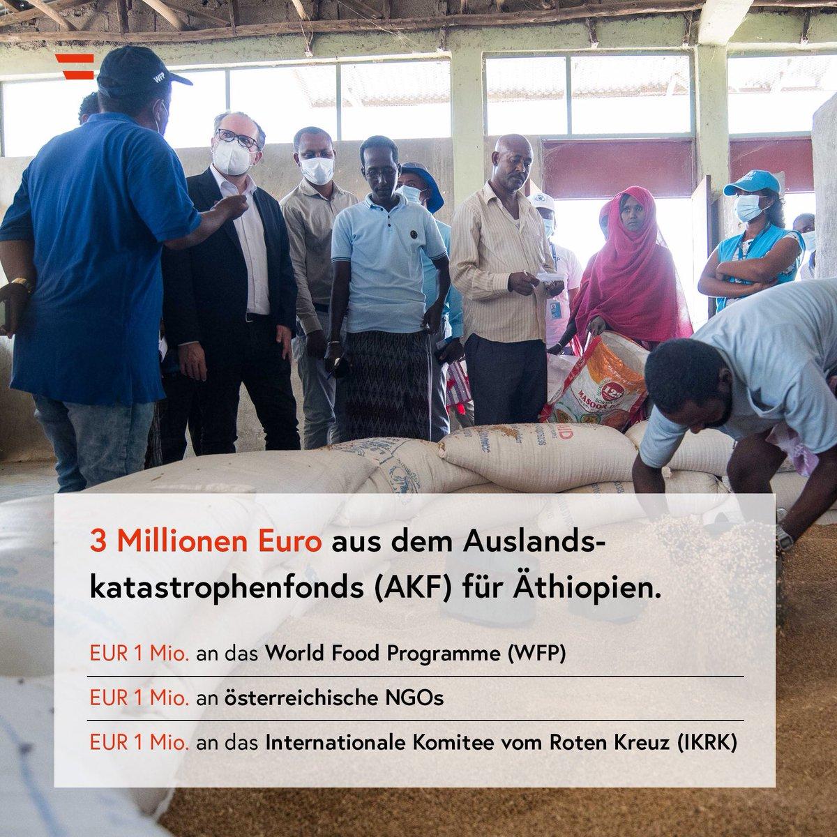 """FM #Schallenberg: """"Die große Anzahl an Flüchtlingslagern in Äthiopien zeigt, wie viele Bruchstellen es in dieser Region gibt, die Menschen dazu zwingen, ihr Land zu verlassen. Umso wichtiger ist es, dass Österreich und die internationale Gemeinschaft auch weiterhin helfen.""""🇪🇹🤝🇦🇹"""