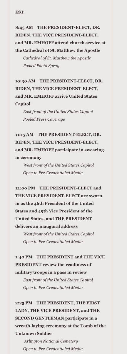 #InaugurationDay /1