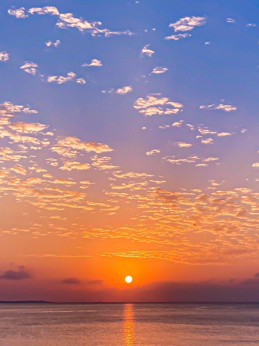 sunset time(^^) 世の中色々大変だけど、うつむかず見上げたら素晴らしい世界が広がってるのだ。 そしてコーヒーとレモンケーキが美味しい(๑>◡<๑) #sunset #coffee #レモンケーキ