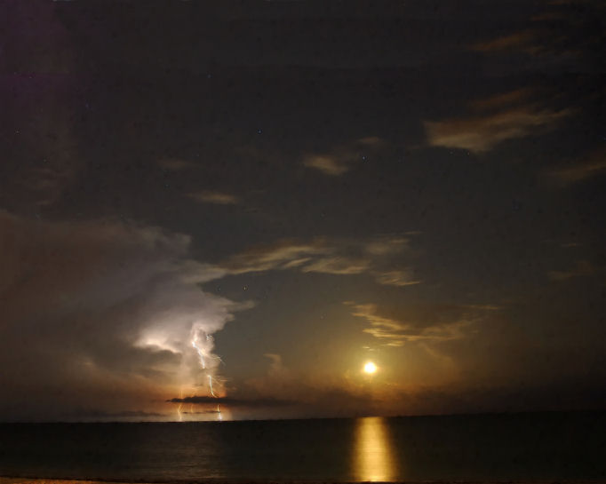 Storm at Sunset  Marvelously awesome sea and cloudscape of 2007, #Storm at #Sunset by Troy Caperton,