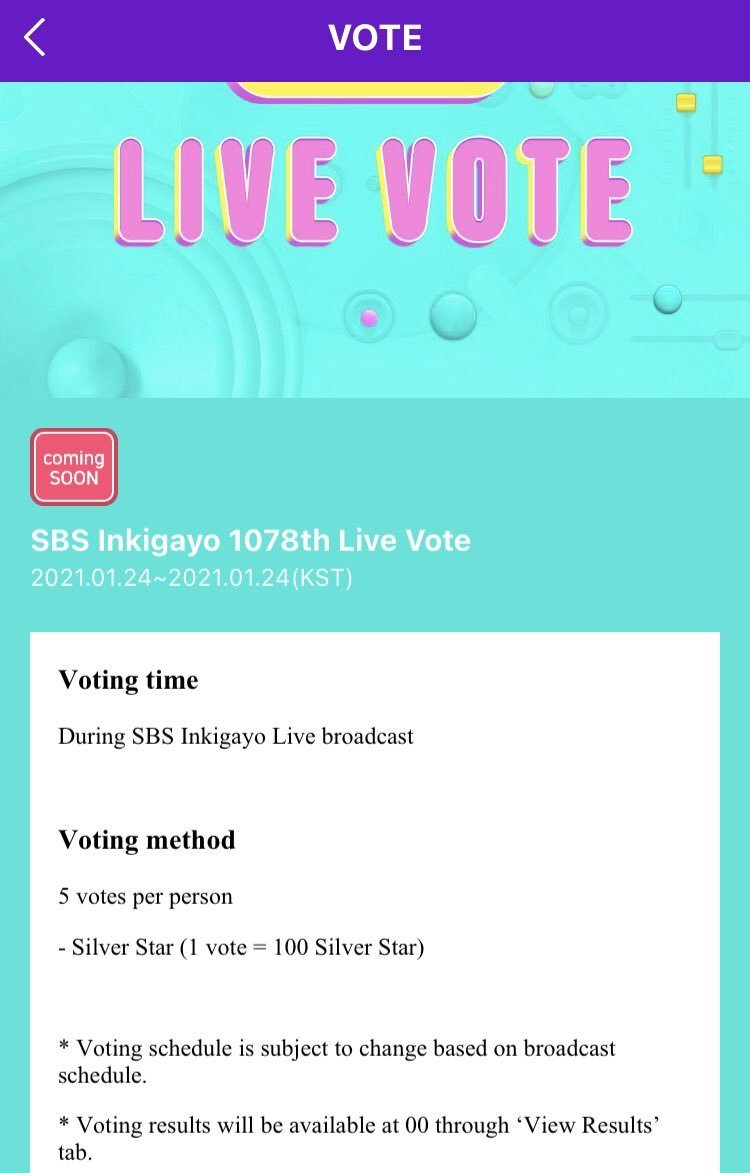 * Note: This is Live-voting (for Global fans). Pre-voting will still be voted through MelOn Music app (for Korean only).  * You need to update STARPASS app with a higher version to participate in voting  * Maximum 5 votes per person during live broadcast hours.