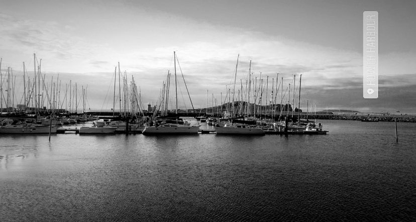 "TY photography ""students choice"" Photo of the week based on the theme ""Black and White"". Next weeks theme is ""Macro"" ""Howth harbour"", photographed by Aoife Wilson, 4 East (2020). #photography #blackandwhite #howth #harbour"