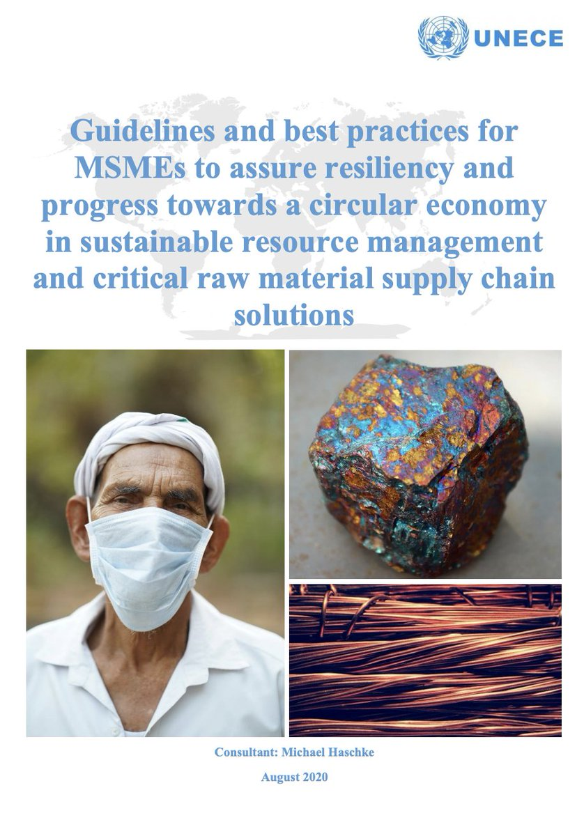 @UNECE is supporting #MSMEs with guidelines on:  👉their role in critical raw material #supplychains 👉#greenrecovery for #smallbusiness in the energy efficiency & #renewables sector 👉opportunities for women's #entrepreneurship in natural resource management & #circulareconomy!
