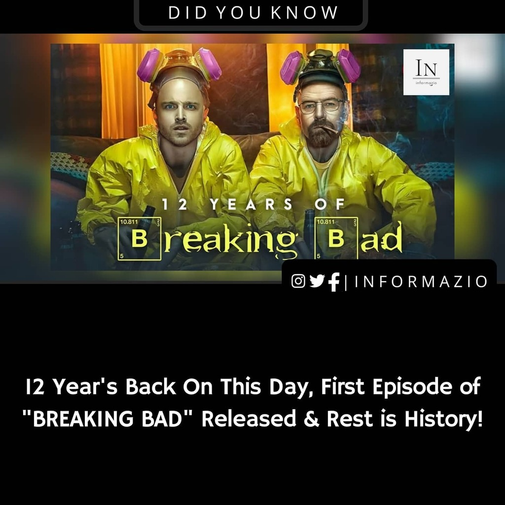One of the Best TV Series Ever Made 😍 @breakingbad 🔥👌 . . Never want to miss an update? Follow @informazio_ for Latest News updates, Tech, Covid-19 Updates & Facts . . #breakingbad #netflix #didyouknow #facts #amazing #interestingfacts #instadaily #i…
