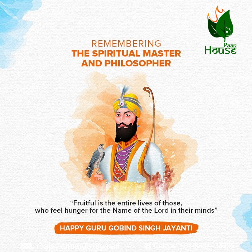 """Fruitful is the entire lives of those, who fell hunger for the name of the Lord in their minds."" Happy Gurupurab! #Paan #GuruNanakJayanti #GuruNanak #Gurugobindsinghji #GuruNanakSahib #ParkashPurab https://t.co/ofM7fbGrpG"