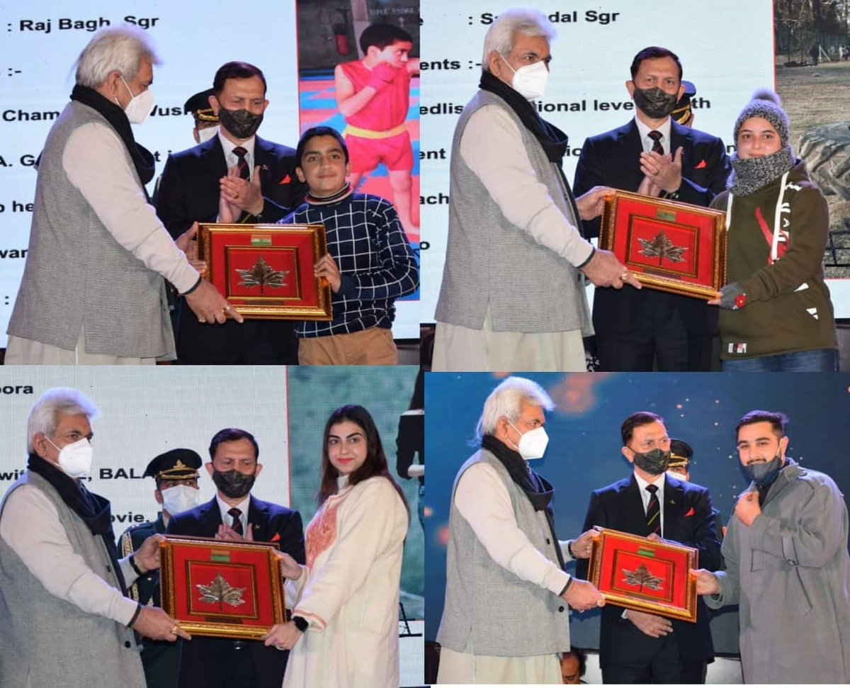 Youth empowerment is key to peace,progress &prosperity It's heartening to note dt some very progressive steps being taken up at diff levels& #IndianArmy playing a key role in +ively channelizing d youth #Shaurya #TalentHunt organised in #Kashmir to identify &nurture young talents
