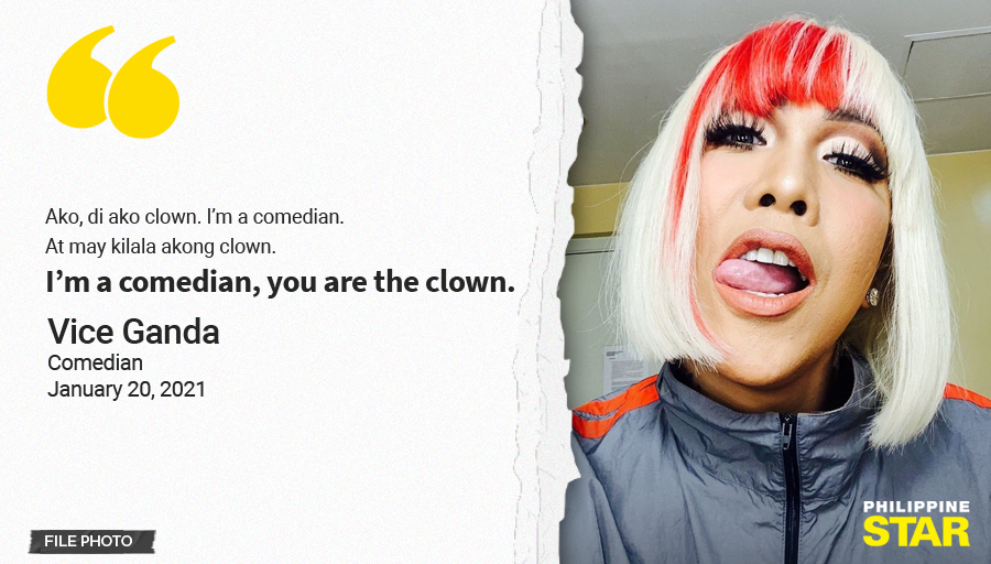 """Comedian Vice Ganda seemed to have clapped back at Presidential Spokesperson Harry Roque in his noontime show It's Showtime on Wednesday.   """"Ako, di ako clown. I'm a comedian. At may kilala akong clown. I'm a comedian, you are the clown,"""" Vice Ganda said."""