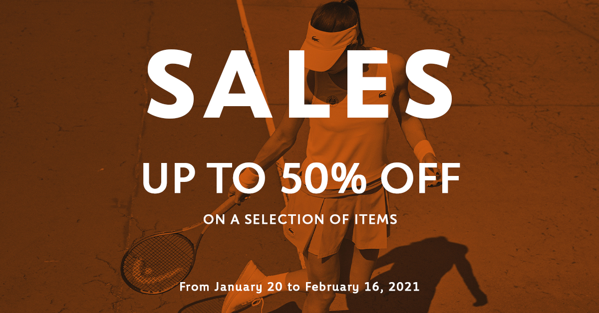 🛍️ It's winter sales on Roland-Garros official store ! Up to 5⃣0⃣% from January 20 to February 16 ! 👉 shop here :  #RolandGarros