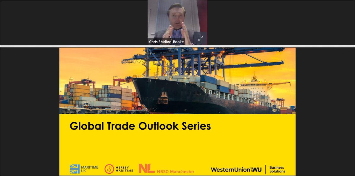 Our #GlobalTrade Outlook Series webinar, a joint event between #MerseyMaritime @WUBusiness @MaritimeUK and @NBSOmanchester is underway. We are focusing on opportunities between the #UK and #Netherlands today. Follow this #thread for more information.