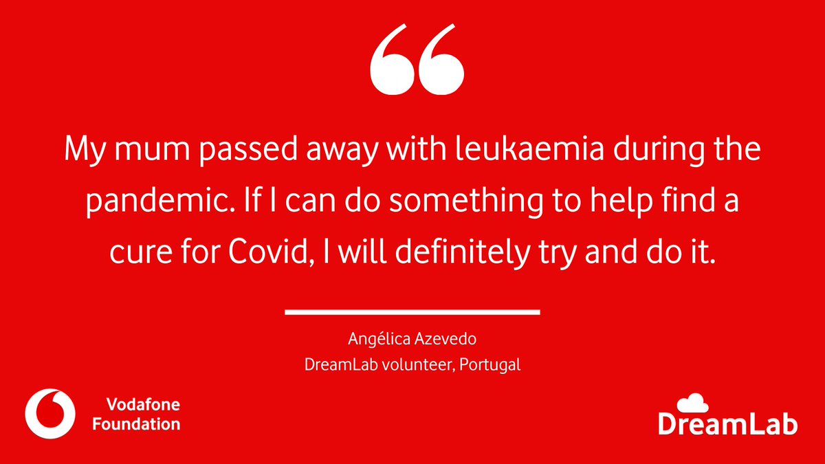 The past year has been tough for so many, like Angélica.   Angélica downloaded #DreamLab and each night she checks how many calculations her phone has done to help speed up vital #Covid19 and #cancer research.  Join our #DreamTeam:  😴  #WednesdayMotivation