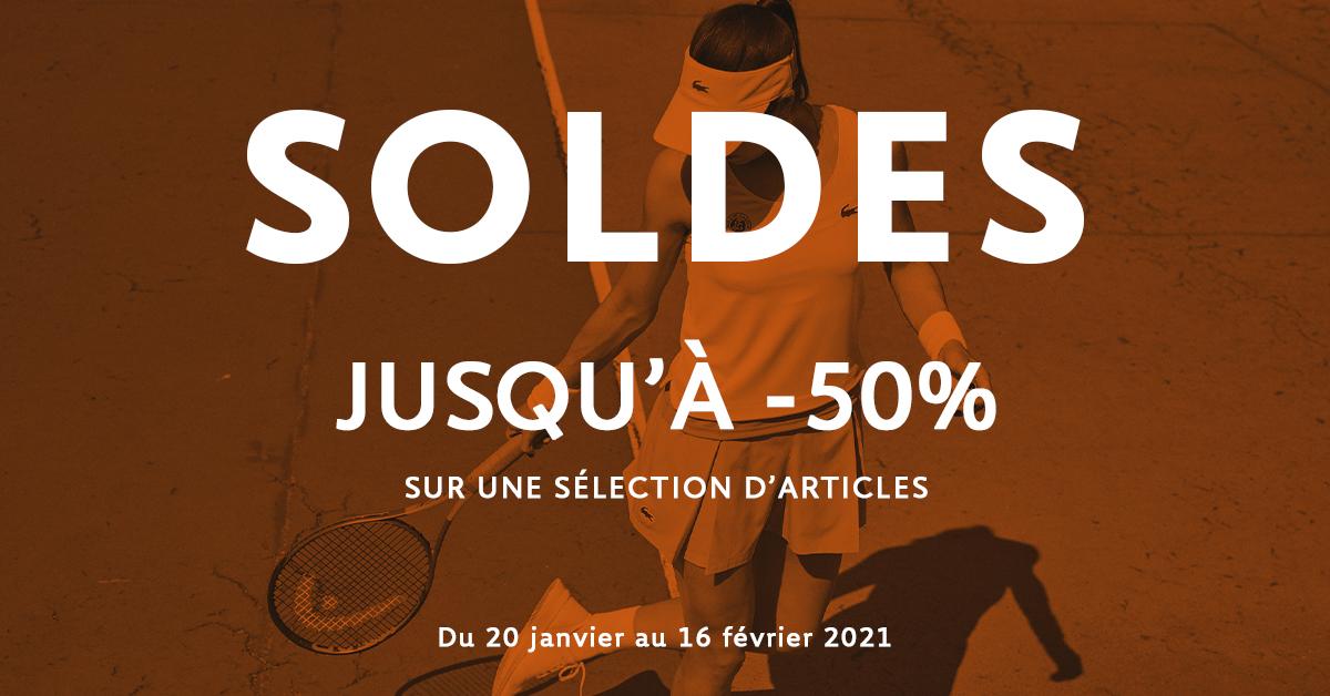 Début des soldes sur la boutique officielle de Roland-Garros !  👕🧢👒 Tous les produits soldés ici >>