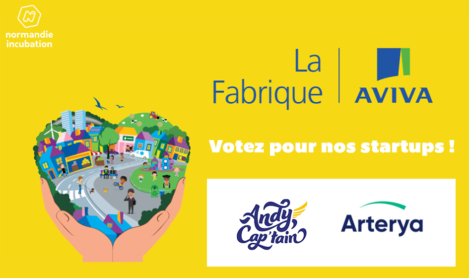 [Coup de pouce] Nos 2 #startups #Normandes Arterya et @monandycaptain participent au concours de la Fabrique Aviva ! Pour passer…