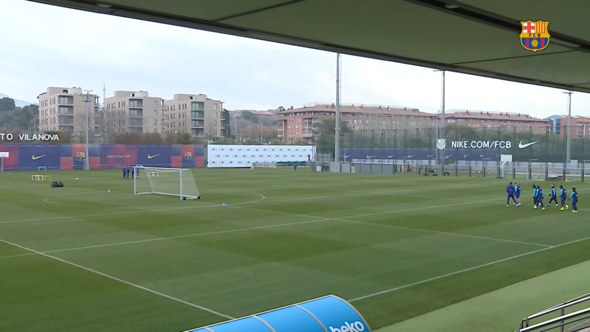 ⚡ LIVE NOW! ⚡ Barça training session ahead of #CornellàBarça in the Copa del Rey!  🖥 Barça TV+: