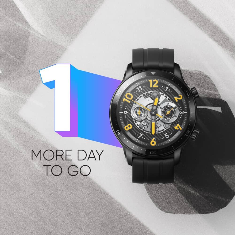 1 day is not that hard to wait right? Think of stylish, think of #realmeWatchSPro. 12pm on 21st Jan 2021 through realme Facebook page.  #StylishNewPro #SmartWatch #realmeMalaysia