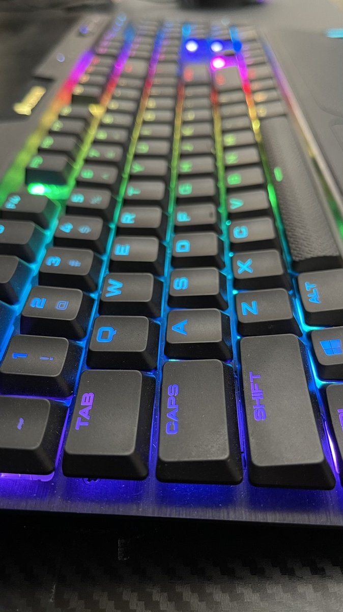 What keyboard do you use? Love my @CORSAIR K70 with cherry switches 😍  #GamingSetup #gamingpc #keyboard #RGB #gaming #gamer #game