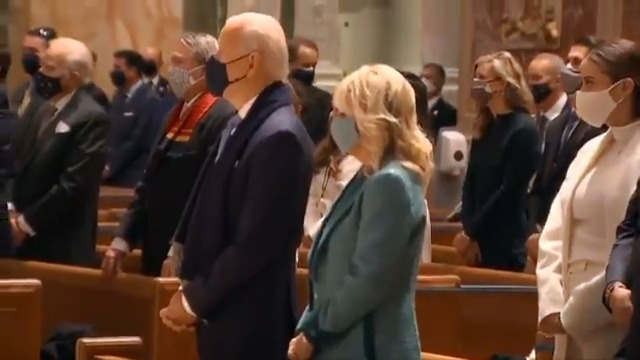 Joe Biden attended church service with wife Jill Biden before inauguration