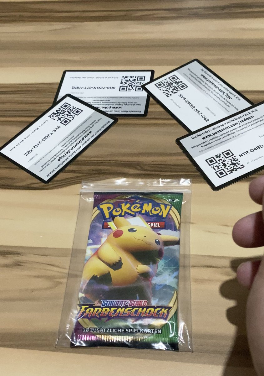 Farbenschock Opening Free Pokemon Code #2  a través de @YouTube #PokemonTCG  #Pokemon #pokemonfreecode  #pokemoncodes