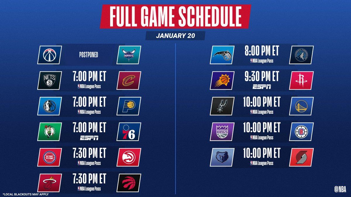 10 games tonight including an ESPN doubleheader.   📺: ESPN 📱💻: NBA League Pass ➡️: https://t.co/Laecx0GSYx https://t.co/VlJOEZM5bO