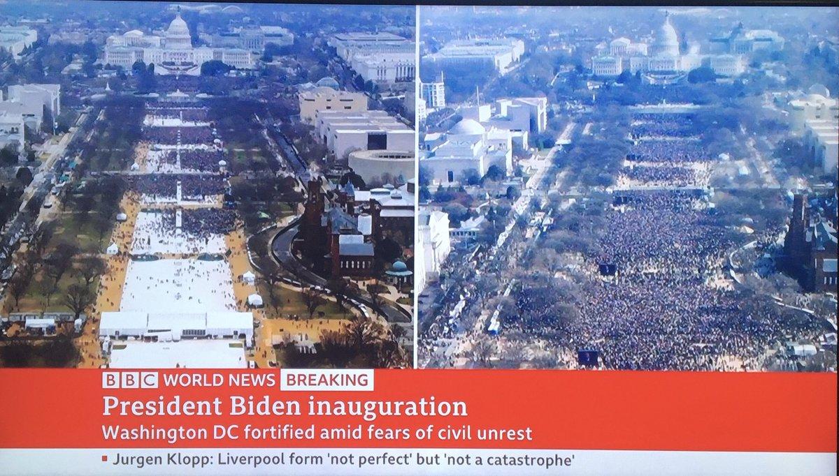 BBC is trolling Trump. #InaugurationDay  #Inauguration2021  #TrumpsLastDay