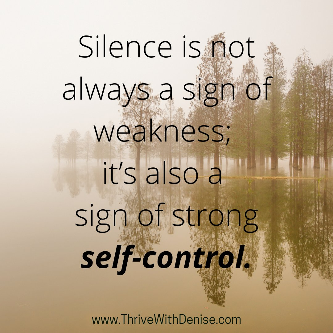 Shhh! It's not necessary to respond to everything! Self-control is imperative on your journey to success! #WednesdayThoughts #WednesdayMotivation #Growth #Success #Thrive #SelfDevelopment #Empowerment #Leadership #Coaching #CoachDenise #ThriveWithDenise #DeniseWilliams
