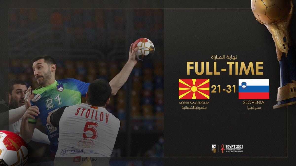 Dans ce premier match du tour principal, la 🇲🇰 de Darko Georgievski s'est inclinée face à la Slovénie   Next step vendredi 22 janvier (15h30) 🇲🇰 🆚 🇷🇺  #Egypt2021
