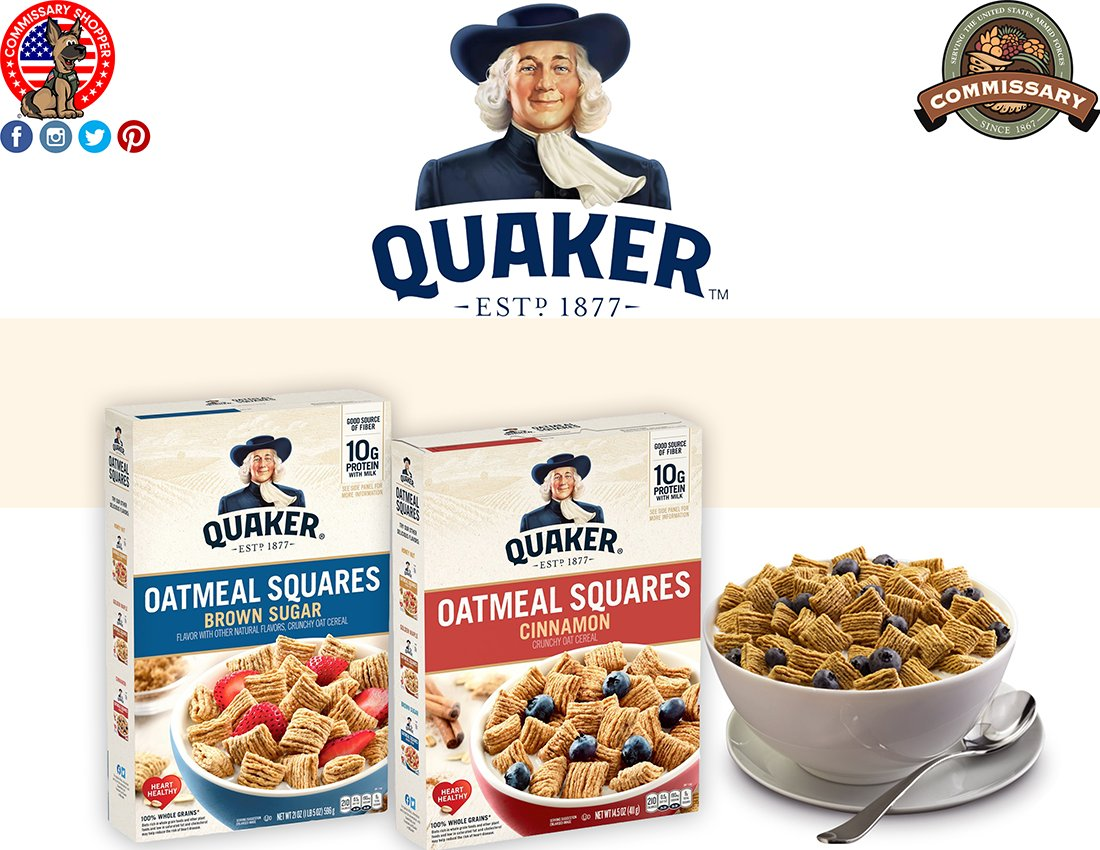 Try @Quaker's Delicious Oatmeal Squares For Breakfast Or As A Healthy Snack!😋 Buy Now At @YourCommissary!🛒#quaker #oatmeal #cereal #oats #breakfast #delicious #yummy #tasty #snack #goodmorning #vegan #vegetarian #healthy #healthylifestyle #breakfasttime #commissaryshopper https://t.co/3jJUhEjlbO