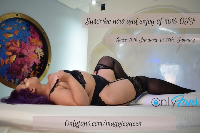 50% OFF in my @OnlyFans   starts now until 27th January all my explicit videos and pics you cannot miss