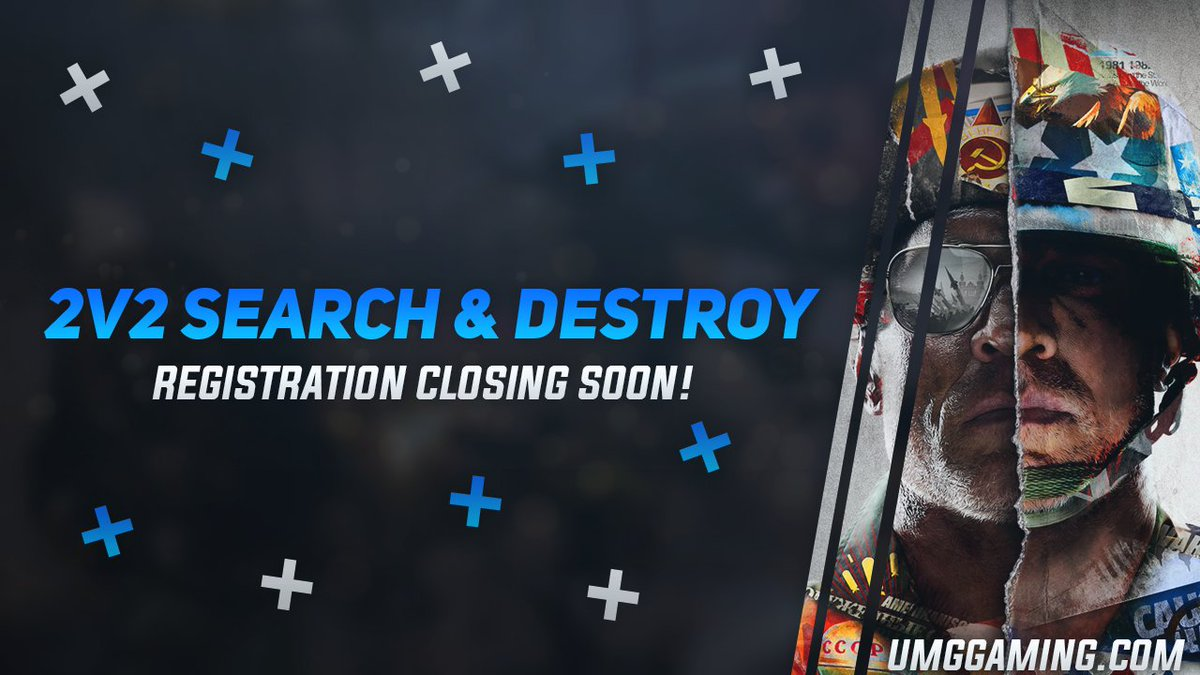 ⏰ Attention #BlackOpsColdWar players, 30 minutes left to signup!  📌 2v2 Search & Destroy 1nD [Consoles Only] tourney!!  Sign your team up now!
