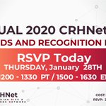 Image for the Tweet beginning: To our CRHNet members and