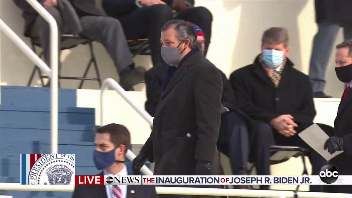 Ted Cruz has arrived.  #InaugurationDay