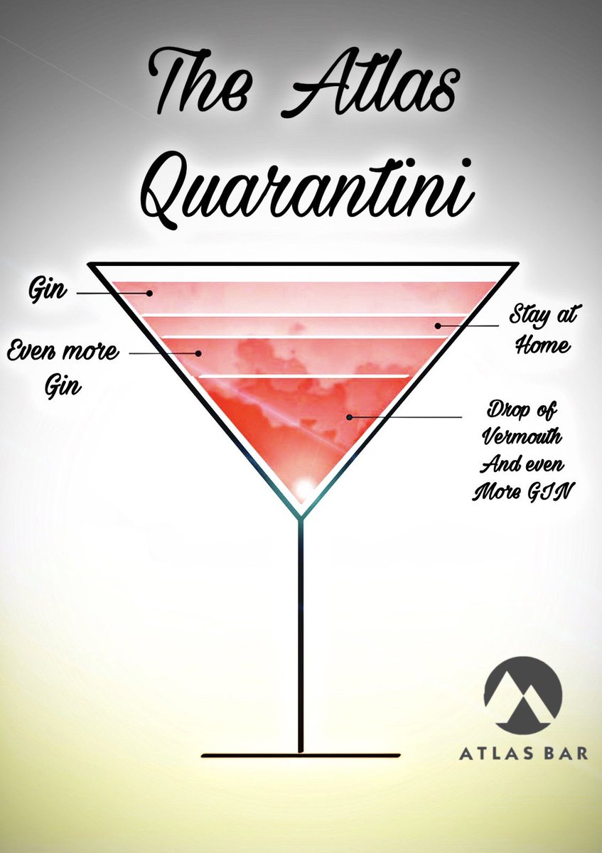 It's #Quarantini time somewhere #Manchester 🍸 #WednesdayWisdom @TheAtlasBar   Just a regular martini but you drink it at home alone! What #gin is the gin of choice?