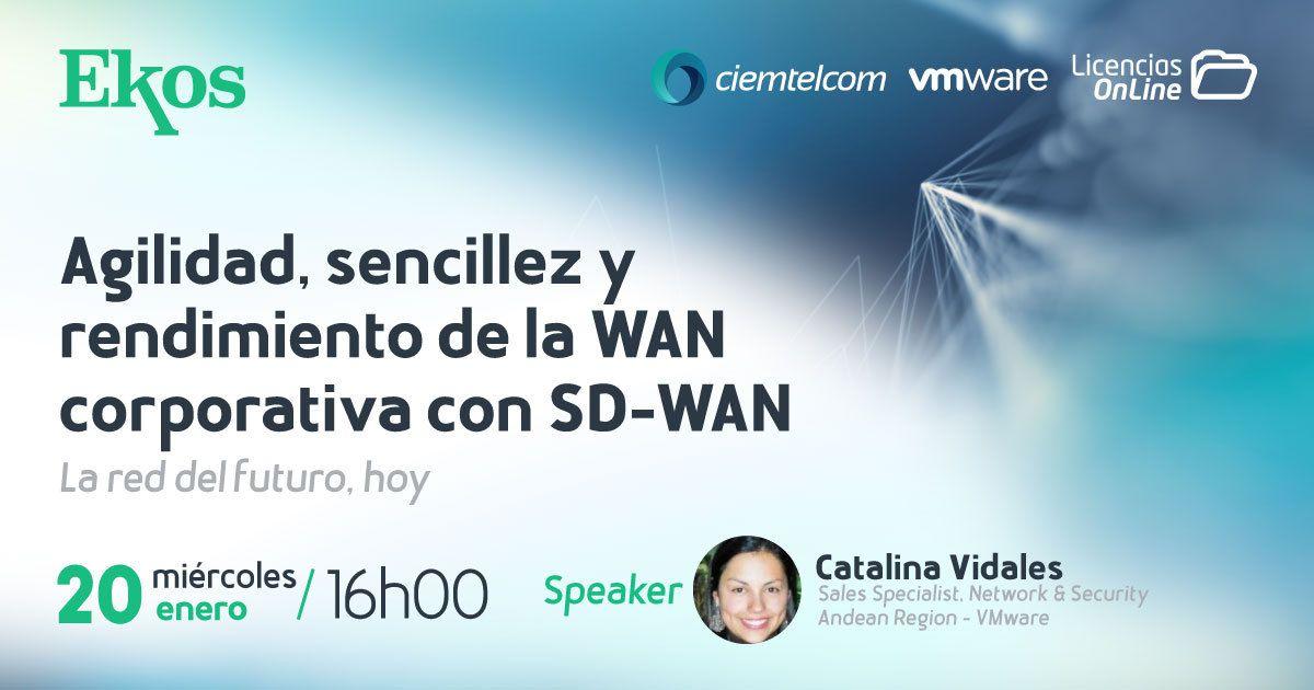 ¡#BuenosDias! Te invitamos a formar parte de este #webimar donde hablaremos sobre la Agilidad, sencillez y rendimiento de la #wan corporativa con #SDWAN, de  @VMware #Savetheday y conoce más de #Velocloud.  Hoy día!  ⌚️16h00 (Hora Ecuador) Regístrate 👇