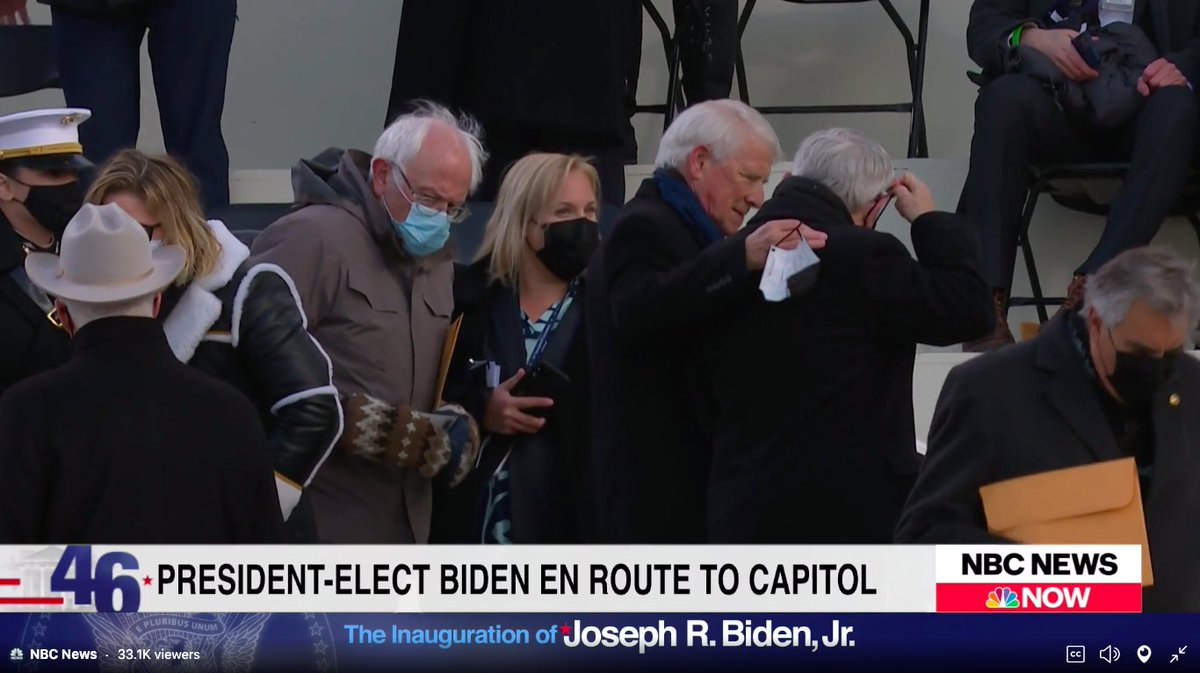 Spotted: Bernie Sanders with the mittens. ❤️  #Inauguration  #InaugurationDay #Inauguration2021