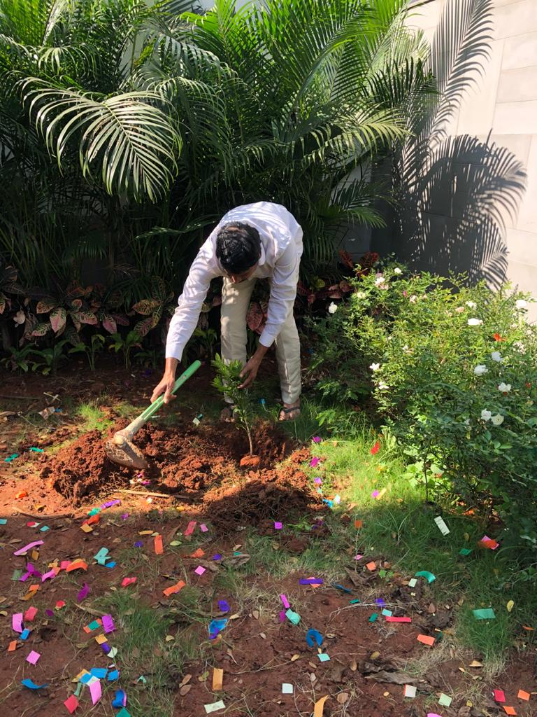 One of the best gifts we can give future generations are tree's  Mla patnam Narendrreddy, kodangal MLa, in green challenge