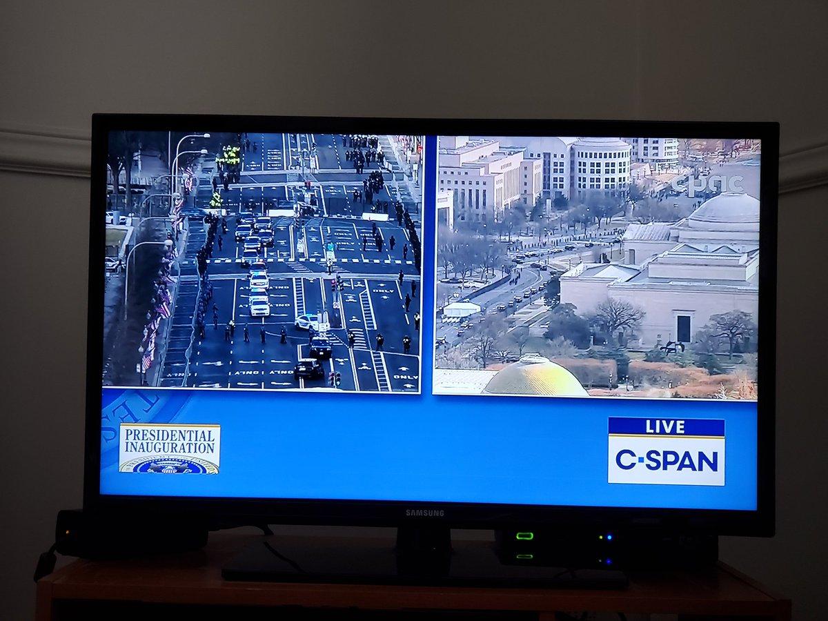 Merci @CPAC_TV de diffuser l'intégralité de l'inauguration présidentielle sur C-SPAN! #InaugurationDay