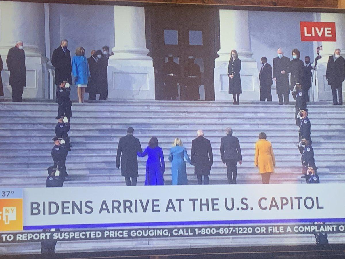 The view from #NewYorkCity   #ny1 #BidenHarrisInauguration #BidenHarris2020 #TrumpsLastDay #Inauguration2021 #InaugurationDay2021