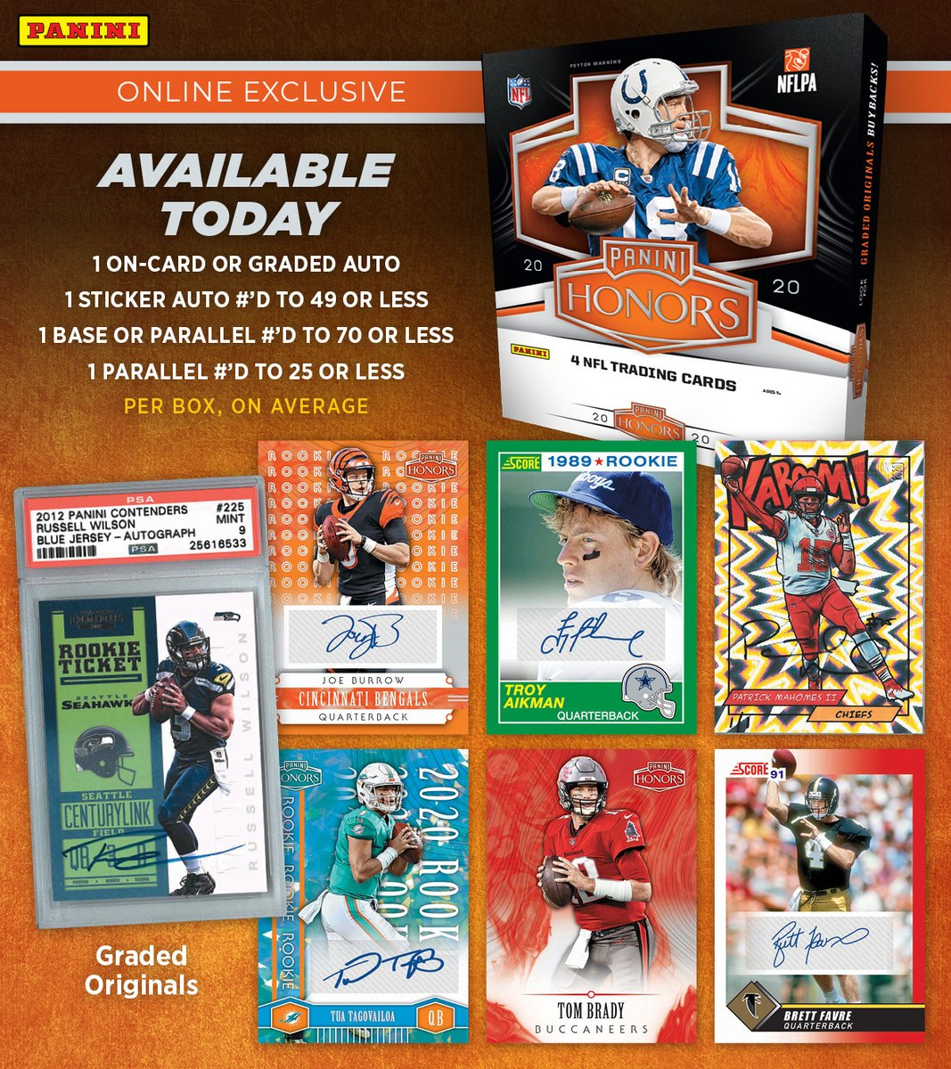 Just 30 minutes until @PaniniAmerica's online-exclusive 2020 Honors @NFL Football launches!  #WhoDoYouCollect | #NFL