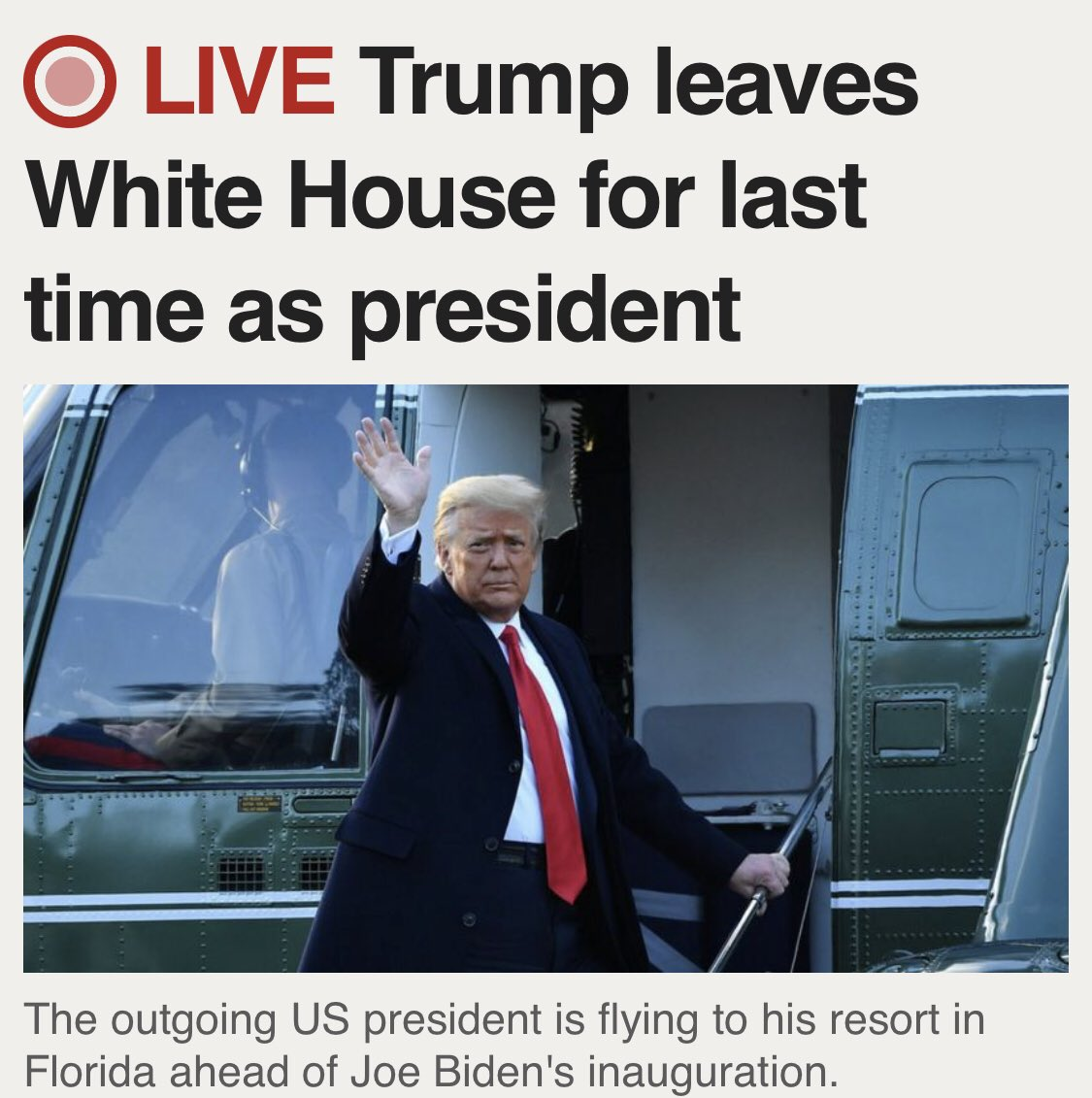 That awkward moment when a shit work colleague leaves and nobody bothers with a whip-round or even a cheap card..... And also in the news... #TrumpsLastDay