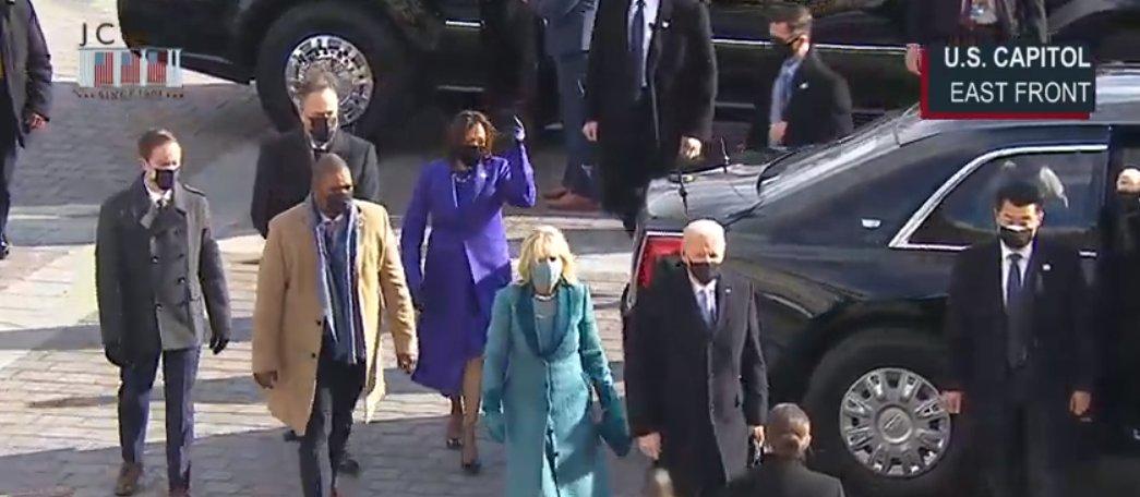 #InaugurationDay President Elect Joe Biden arrives