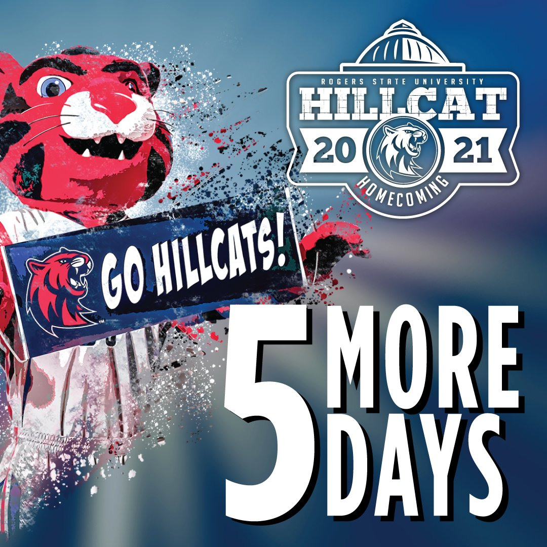 How many days left? Five!!!!   #RSUHoco #HillcatNation #Homecoming #Basketball #Givingweek #Brightertomorrow #fivedays
