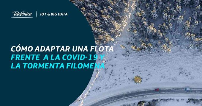 ¿Cómo ayudan el #IoT o el #BigData a adaptar una flota de vehículos ante situaciones como la COVID19 o Filomena? 🚛🚌