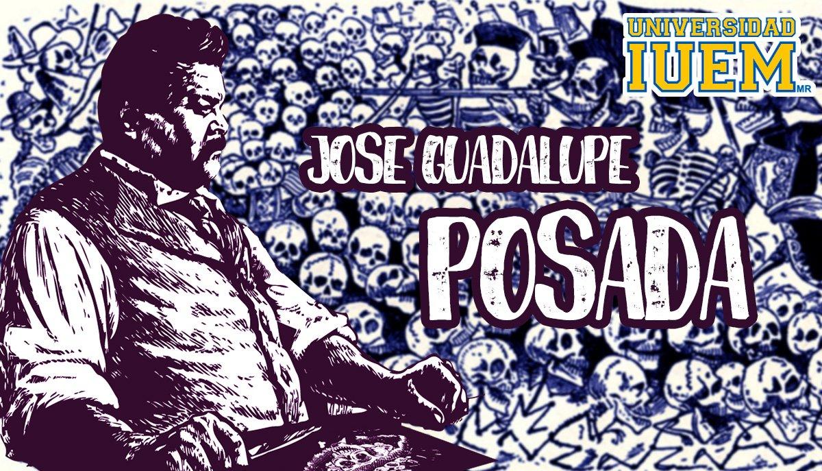 """#UnDíaComoHoy falleció José Guadalupe Posada, grabador y caricaturista mexicano reconocido por sus ilustraciones como """"La Catrina"""" #LíderesQueTransforman"""