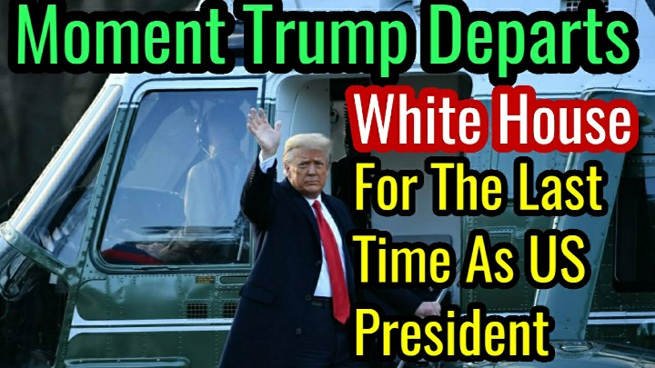 Watch the Moment Trump Departs White House For The Last Time As President.  Watch Here👉   #ByeByeTrump #JoeBiden #DonaldTrump #KamalaHarris #Trump #BidenHarrisInauguration #InaugurationDay #TrumpsLastDay #Melania #wednesdaythought  #whendoesitstop