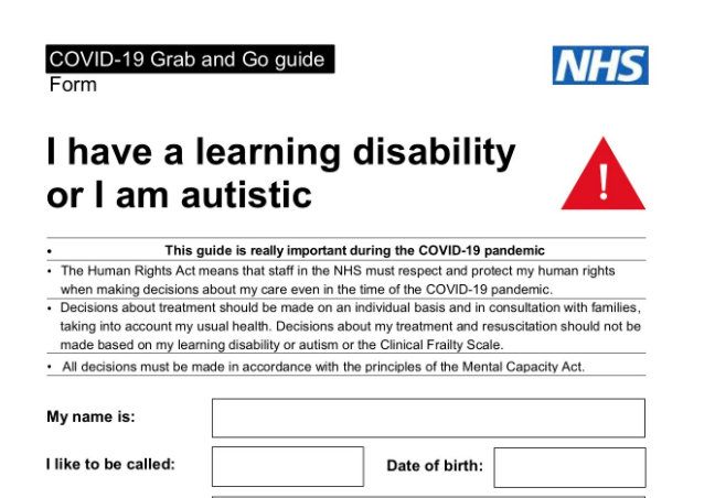 Going in to hospital when you have a learning disability can be scary and difficult, so we've updated all our links to easy-read leaflets and a hospital passport for you to use. Download here:  #leaningdisability #covidvaccine