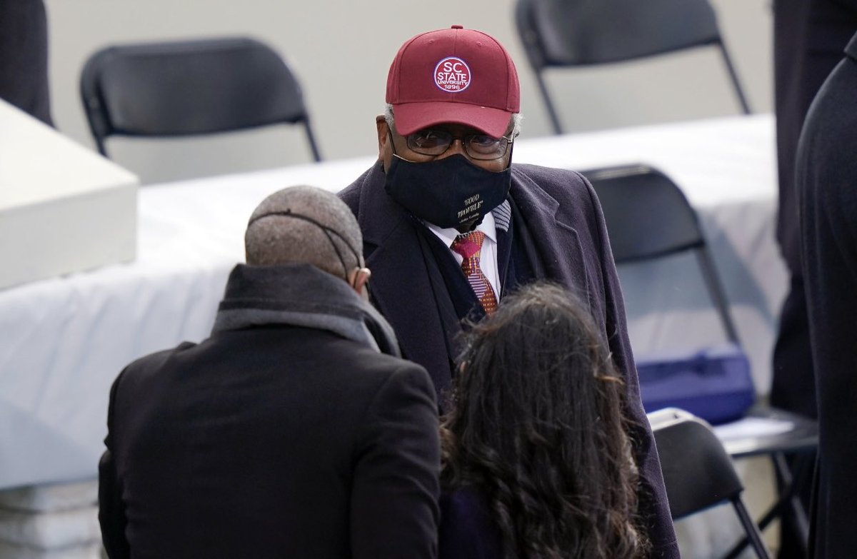Thank you loyal son @WhipClyburn , for representing SC State University on such a historic #Inauguration2021 Day! #scstate #scstate1896 #hbcu   (Image: Getty Images)