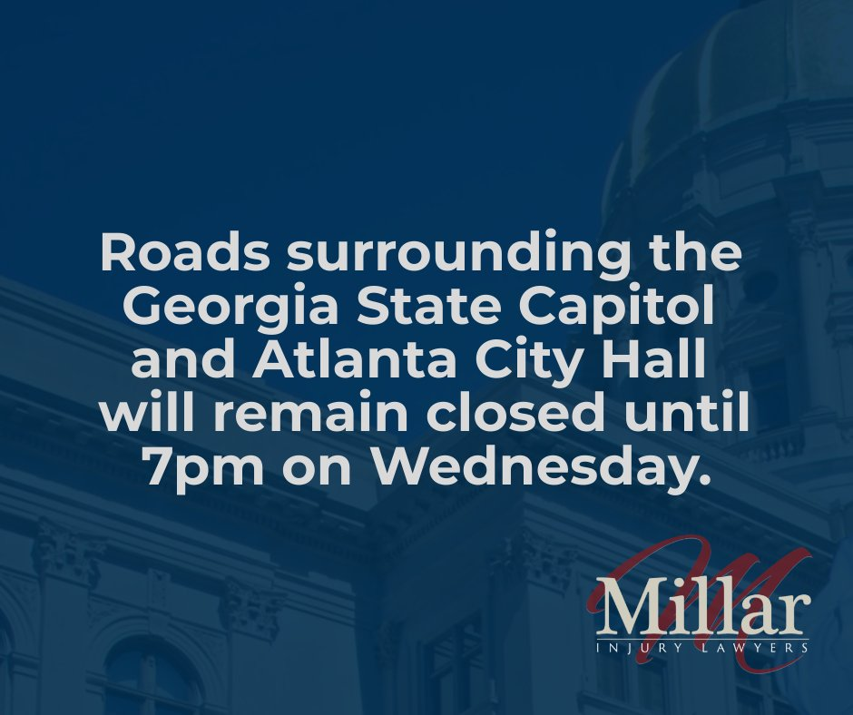 #FYI Streets around the GA Capitol are closed until 7pm tonight. For real-time Georgia traffic information, dial 511 or visit . #ATLtraffic #inthenews
