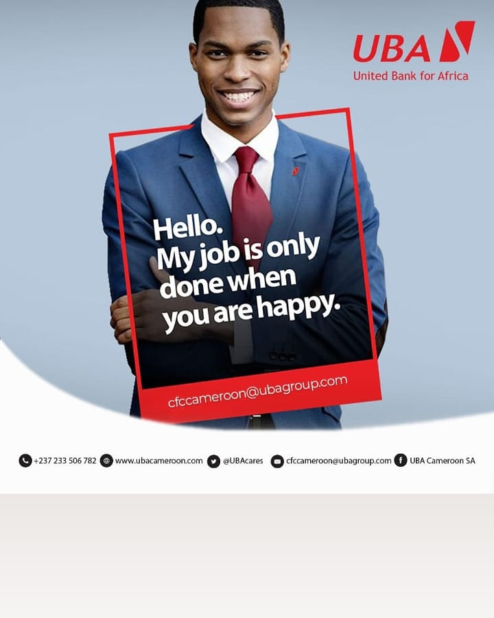 Our top priority is Customer satisfaction.   Should you have any concerns, just get in touch with our Customer Fulfillment Centre (CFC) by making a call or sending an e-mail to:    📞+237 233 506 782 📧 cfccameroon@ubagroup.com  #UBAcares  #TheaLeadingDigitalBank